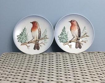Vintage Goebel Robin Collector Plates