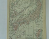 Antique Map of Japan 1899