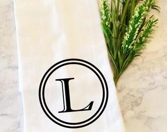 Monogrammed Tea Towel, Dish Towel, Kitchen Towel, Dish Cloth, Tea Towel,  Hand Towels, Flour Sack Dish Cloth