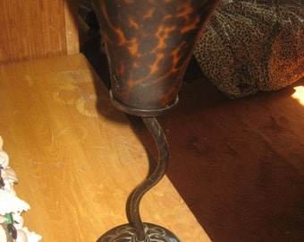 Leopard/Cheetah Glass and Metal Candle Holder