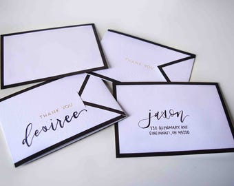 Thank You Cards | Calligraphy | Hand Lettering | Thank You | Cards | Custom