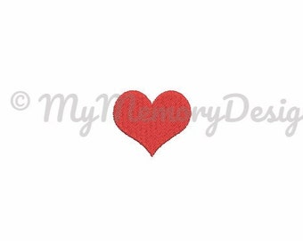 Heart fill stitch embroidery design - Mini fill stitch machine embroidery design - Baby embroidery - INSTANT DWNLOAD - 4 SIZE for 4x4 hoop