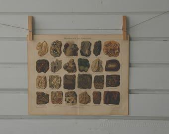 1890 Vintage Minerals & Rocks Illustration
