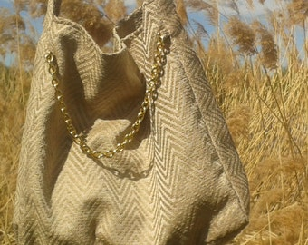 Golden chain bag