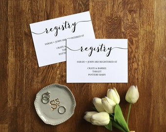 Registry Card Template, Wedding Enclosure Cards, Invitation Insert Card, Printable Registry Card, Instant Download, Printable PDF, PPS12