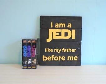 Star Wars Inspired I am a Jedi Rustic Wood Pallet Sign//Skywalker//Vader//Empire//Force//Rouge One