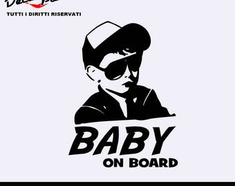 Vinyl sticker Baby on board, customization options