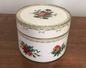 Vintage Himelhochs Dusting Powder Box with Original Powder and Puff