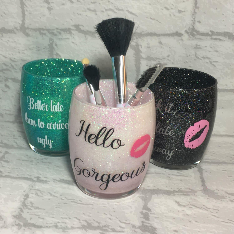 Makeup Brush Holder Glitter Make Up Brush Holder Makeup