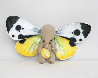 ADOPT ME! New Four-Wings Design ! The Elephant And The Dream, Art Collectible Toy, Magic Elephant, Butterfly Wings Elephant, Butterfly Wings