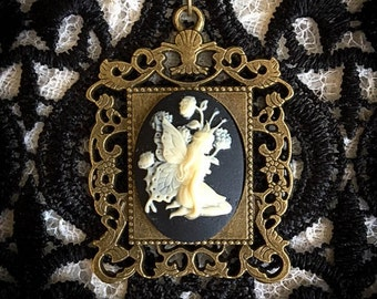 Enchanted Fairy Victorian Inspired Cameo Necklace