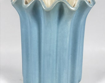 Red Wing Pottery Pleated Fluted Vase 1169