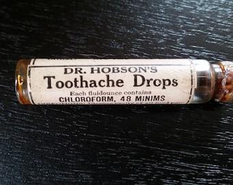 Dr. Hobson's Toothache Medicine Bottle