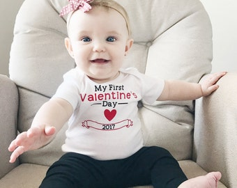 My First Valentine's Day, Baby's First Valentines, Baby Girl Valentines Outfit, Baby Boy Valentines Outfit