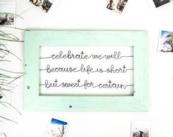 Dave Matthews Lyrics Wire & Wood Sign | Living Room Decor | Wedding Gift | Song Lyrics Wall Art | Housewarming Gift | Entryway Decor