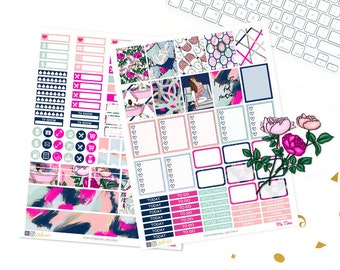 Printable Planner Stickers, Me Time glam Planner, fashion girl, Cats, girly, Weekly Kit, use with Erin condren, floral, LVP, Beauty, chic