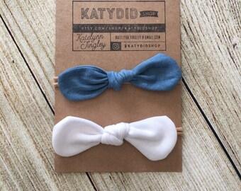 Baby Girl Headband // Knot Headbands // Set of 2 Headbands