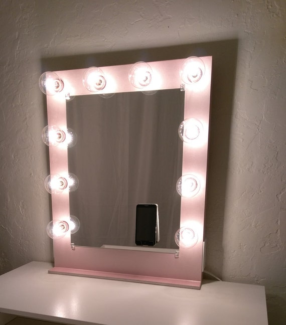 Vanity Mirror With Lights Etsy : Vanity mirror with lights Dimmer and 2plug outlet