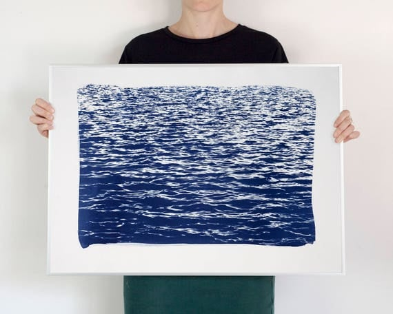 Blue Waves Seascape, 50x70 cm