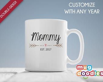 Mommy Est 2017, New Mommy Mug, Mommy Mug, Mothers Day Gift, Mommy Est 2017 Mug, New Baby Gift, Baby Shower Gift, Expecting Mommy, MD8