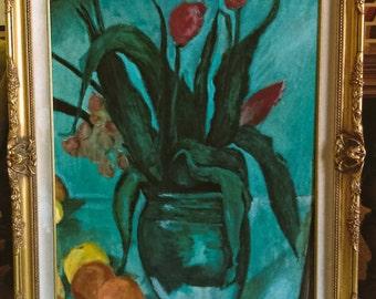 Tulips  in  Green  aft Cezanne