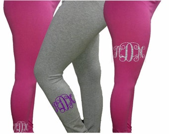 Glitter Monogram Leggings|Kids Monogrammed Leggins|Kids Monogram Tights|Girls Clothing|Girls Pants