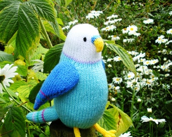 Clifford the budgie toy knitting pattern PDF instant download