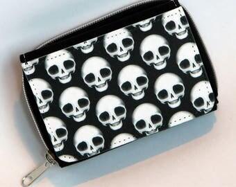 Pullip Doll Skull Wallet/Purse, featuring a repeated #DeadPullipSociety Plain Skull Design