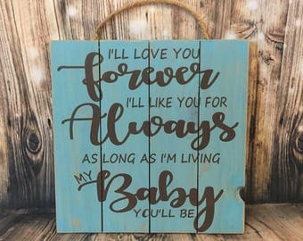 I Ll Love You Forever Book Quotes Classy Ill Love You Forever  Etsy