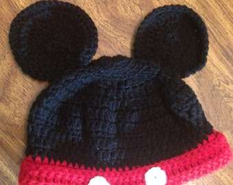 Mickey Beanie- Hat for baby, toddler, adult - Winter Hat - Baby Shower - Gift - Birthday - hat for child and adult