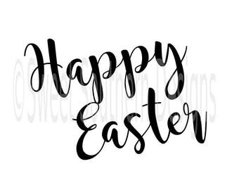 Happy Easter SVG instant download design for cricut or silhouette