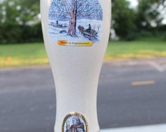 Vintage Ceramic Pint Glass made in Germany /KAPUZINER  Beer Mug