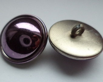 8 BUTTONS of purple 21mm (5275) button