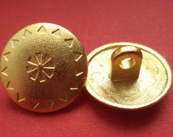 8 metal buttons gold 21 mm 18 mm 15 mm (445 5216 4160) metal buttons