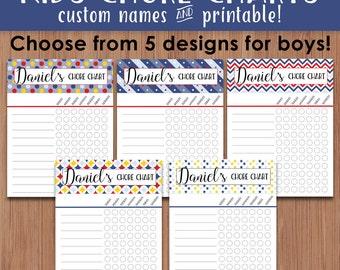 Personalized Chore Charts, Kids Chore Charts Printable, Chore Chart Printable, Customized Names Chore Charts, Chore Chart, Printable Planner