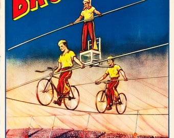 Circus Memorabilia: An original American 1930s/40s Cole Brothers Circus poster
