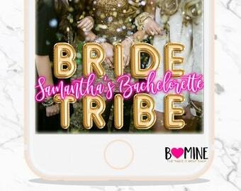 BRIDE TRIBE, Bachelorette Snapchat Geofilter, Balloon Letters, Custom Snapchat Filter, Birthday Snap, Bachelorette Snap, Bride Tribe Bach