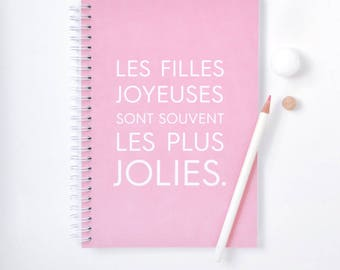 Notebook A5 - Happy girls are the prettiest