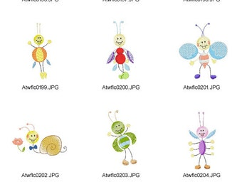 Sticky-Bugs ( 10 Machine Embroidery Designs from ATW )