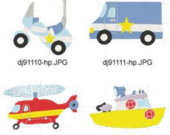 Emergency-911-Vehicles-2 ( 8 Machine Embroidery Designs from ATW ) XYZ17D