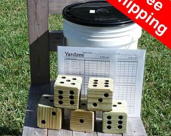 Free Shipping! Yardzee - Giant Yahtzee