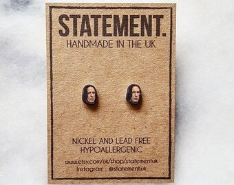 Snape / Alan Rickman from Harry Potter Actor / Celeb / Character Face / Head Stud Earrings - 1 pair