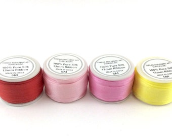 ThreadArt 13mm Silk Ribbon (5 meters) Sold by Individual Spools