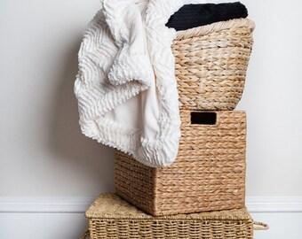 Ivory Chevron Throw Blankets, Neutral Blanket, Throw Blanket, Home Decor, Gift For Mom, Gift for Her, Off White