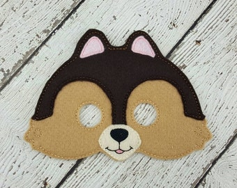 Chipmunk Mask - Animal Mask - Felt Mask