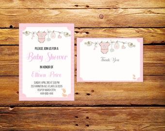 Baby Shower Invitation,Girl Baby Shower Invite,Girl Baby Shower Invitation,Printable invite,Baby Shower Invite,PRINTABLE,Digital File