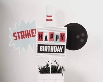 Bowling Centerpiece Sticks, Retro Bowling Centerpiece Sticks, Vintage Bowling Centerpiece, Bowling Table Decorations, Bowling Party Decor