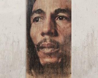 Bob Marley - Legend of Reggae / / Transfer on wood