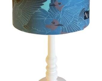 "Lampshade ""Hirunda"" blue - custom sized"