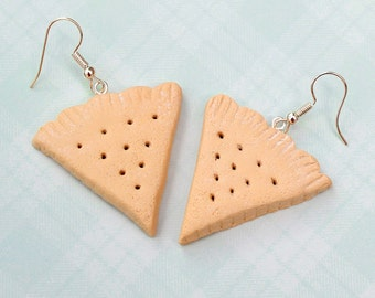 Scottish shortbread earrings, Shortbread cookies, Polymer clay biscuits, clay cookies, gift for mum, gift for her, Scottish gift